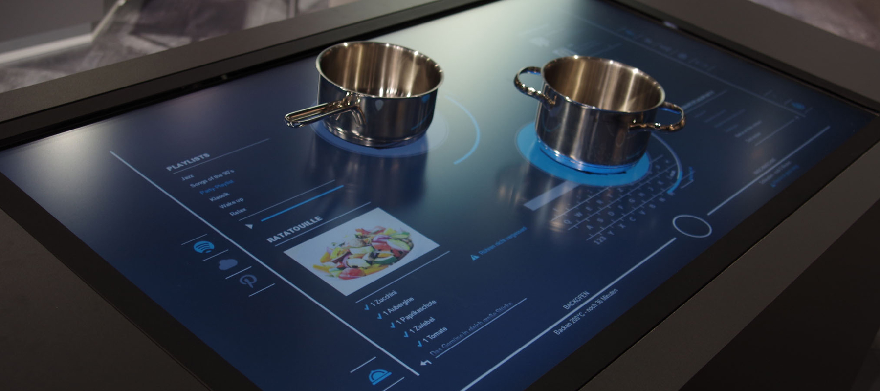 In the future anything can be a cooktop ovens for Table induction